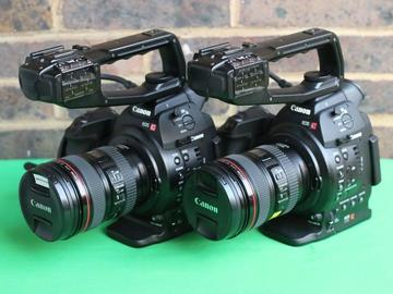 Lender: 2x Canon C100 KIT with lens and tripod