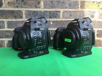 Lender: 2x Canon C100 mk1 Cinema Camera (body only) in PELI 1510 case