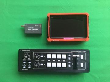 Lender: Live stream basic kit (Roland V-1HD switcher + monitor + Ultra Studio + cables)