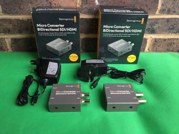 Lender: 2x Blackmagic Design Micro Converter BiDirectional HDMI/SDI for ATEM MINI