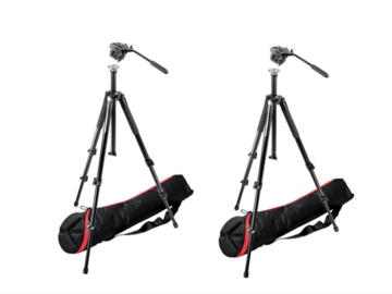 Lender: 2x Manfrotto 055 tripod with 701HDV video head + bag