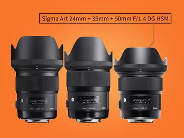 Lender: Sigma Art Prime Lens Kit - 24mm | 35mm | 50mm EF Mount