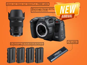 Lender: Blackmagic 6K Pro + 1x Prime Lens Kit