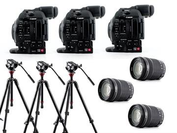Lender: 3x camera bundle (Canon C100 mark II + EF-S 18-135 lens + Manfrotto tripod)