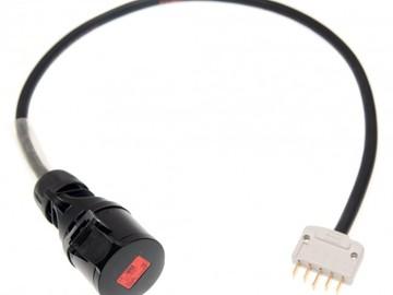 Vermieter: 1m Adapterkabel - 16A, 5P Komfurstik -> 16A, 5P CEE hun stik